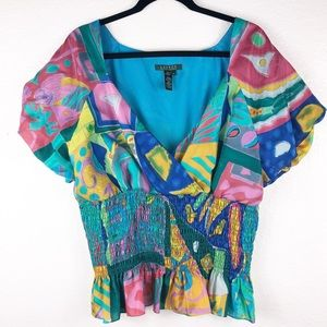 Lauren Ralph Lauren Colorful Blouse